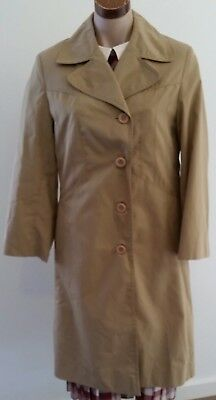 Vintage 70s VIRGO Made in Hong Kong BEIGE Cotton Blend TRENCH COAT size 10