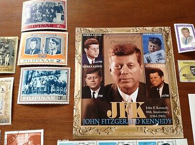 John F. Kennedy & Robert Kennedy with Families World wide 60 stamps