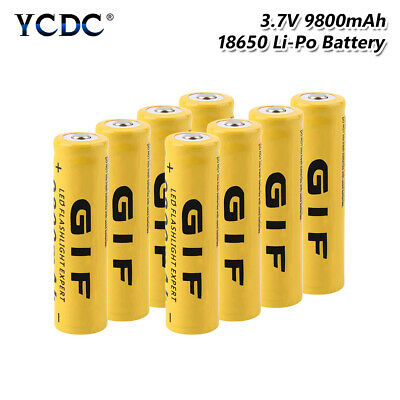 8Pcs Rechargeable 3.7V 9800Mah 18650 Battery Li-Ion Cell For Flashlight Torch 2