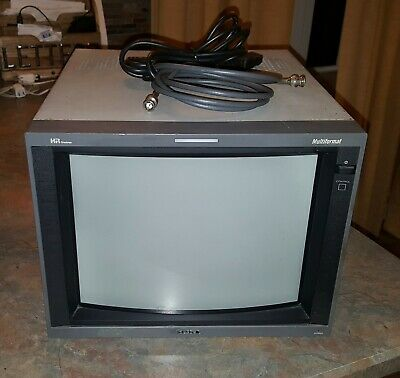 "Sony PVM-14L5 14"" Trinitron Multiformat CRT Video Monitor Retro Gaming w/BKM142"