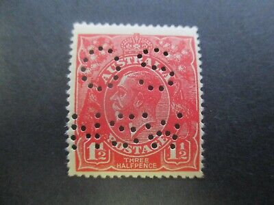 KGV Stamps: 1.5d Red No Watermark Perf OS NSW Mint  - Rare  (d178)