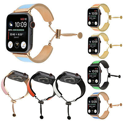 Plated Bangle Stainless Steel Strap for Apple Watch Series 5 4 3 2 Band Bracelet