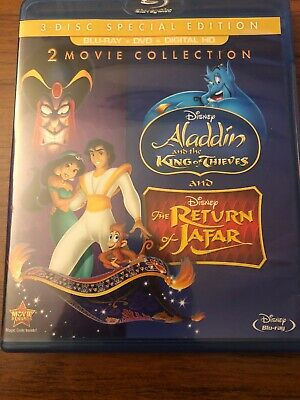 Disney Aladdin King of Thieves / Return of Jafar (Dvd & Bluray) Mint No Digital!