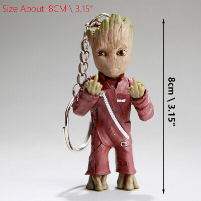 PVC Action Figure Key Chain Vol.2 Baby Groot Wave Guardians of The Galaxy Hand