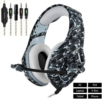 K1 Stereo Bass Surround Gaming Headset for PS4 New Xbox One PC with Mic
