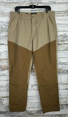 48664c8c5d6f4 Cabelas Mens Roughneck Upland Field Beige Nylon Brush Guard Pants Hunting  36x35
