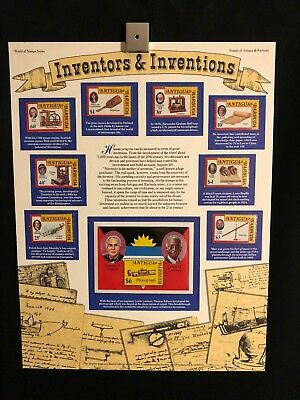 World Of Stamps Inventors & Inventions Series Collection 9 Stamps Antigua