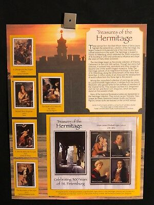 World Of Stamps Treasures Of The Hermitage Series Collection 9 Stamps Art