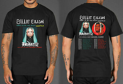 Billie-Eilish-World-Tour-2019-With-Special-Guest DENZEL CURRY T-shirt ft55