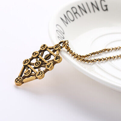 Retro Kabbalah Sephirot Tree of Life pendant Necklace Golden Women Jewelry