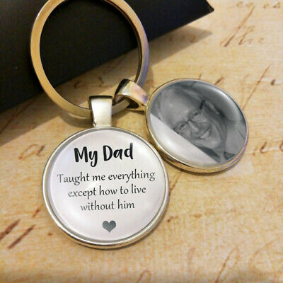 Personalised Memory Photo Keyring Mum Dad Grandma Grandad Gifts Presents UK