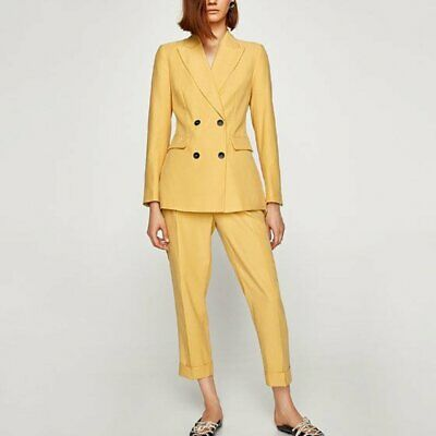 Zara Dusty Yellow Suit - Pants Size M, Jacket Size S, fits 8-10 BNWOT
