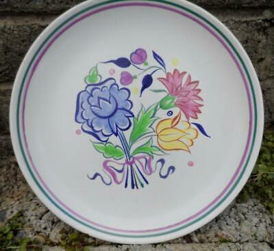 Vintage Poole pottery plate / charger - vintage 1960's English pottery - mid cen