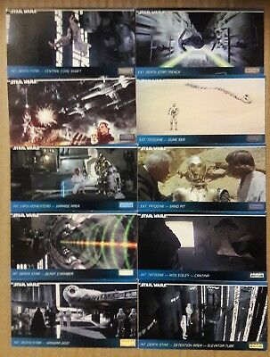 Star Wars - 10 Various Topps Widevision Trading Cards