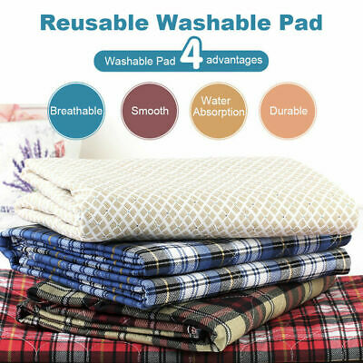 6× Reusable 45 x 60cm Washable Underpad Waterproof Bed Pad for Children Adults