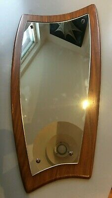 vintage retro Antique g plan mirror teak danish 1970s wall hanging abstract