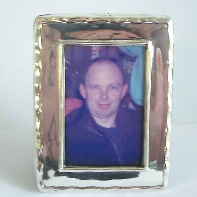 Vintage Silver Photo Frame Birmingham 1994 -  2.5  By 3.4  Inches  -   Gleaming