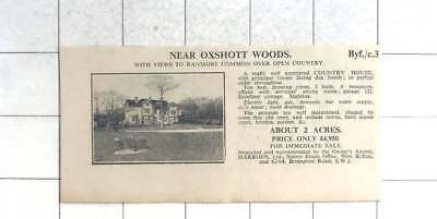 1935 Near Oxshott Woods Country House 10 Bedrooms 2 Acres £4950