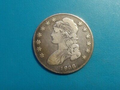 1836 Philadelphia Mint Silver Capped Bust Half Dollar.Choice Fine