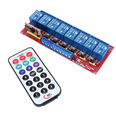 Bidirectional 12V Infrared Remote Control 8-Channel Relay Module Dual Trigger
