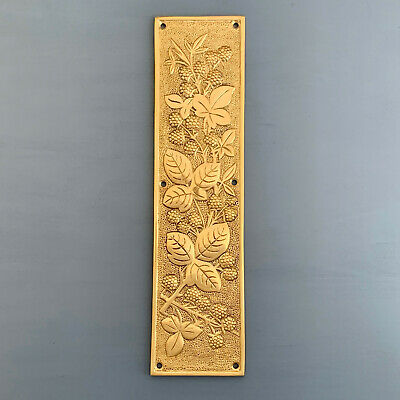 Heavy Cast Brass Finger Door Push Plates Blackberry Fingerplate Knobs Handles