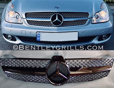 Mercedes W219 CLS Grille Grill Chrome 2004-2007 Model