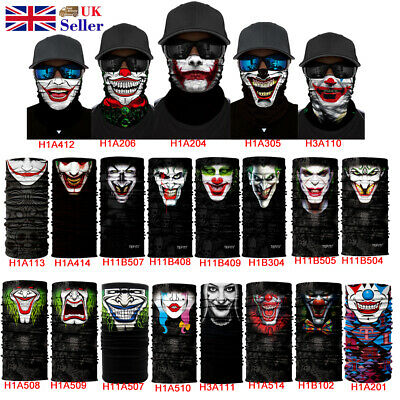 Joker Balaclava Snood Biker Face Mask Neck Tube Scarf Warmer  Motorcycle Bandana