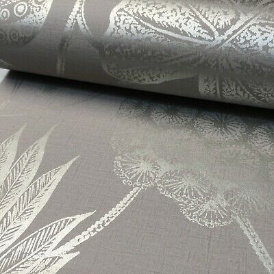Rasch Havanna Taupe Metallic Shiny Floral Thick High Quality