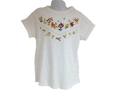 Girls Embroidery T-shirt 100% Cotton Summer Top Age 3-16 Years New NEXT Kids