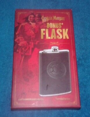 Captain Morgan 5oz Stainless Steel Collectible Rum Flask New in Box