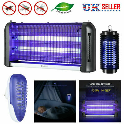 Electric UV Insect Killer Mosquito Fly Pest Zapper Catcher Trap Lamp UK Plug
