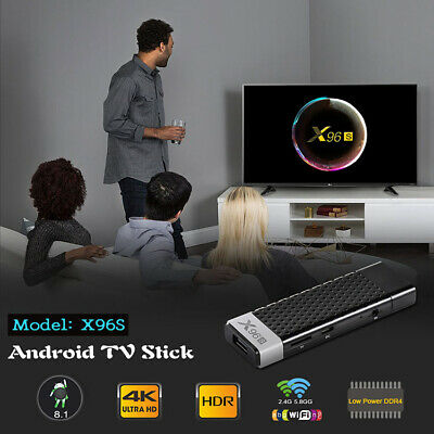 X96S 4K Bluetooth Quad Core TV Stick Android 8.1 Amlogic S905Y2 DDR4 4+32GB Wifi