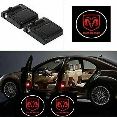 Wireless 2X Car Door RED Led Welcome Projector Logo Ghost Shadow Light DODGE Ram