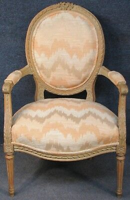 French Style Carved Solid Beech Framed Armchair