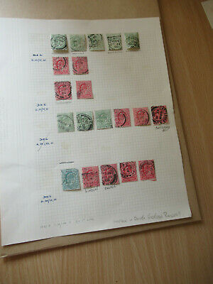 GB LONDON & SOUTH WESTERN RAILWAY (LSWR PERFINS) 1903 - 1910 P/MKs  (20 STAMPS)