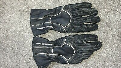 FRANK THOMAS BLACK LEATHER 100% LEATHER LADIES GLOVE SIZE LLUsed once