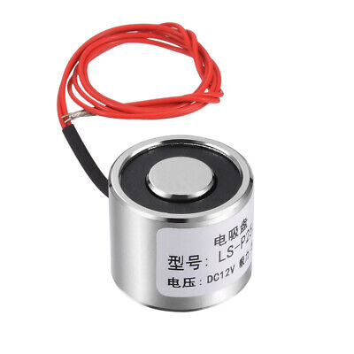 25mm x 20mm DC12V 0.33A 4W 50N Sucking Disc Solenoid Lift Holding Electromagnet