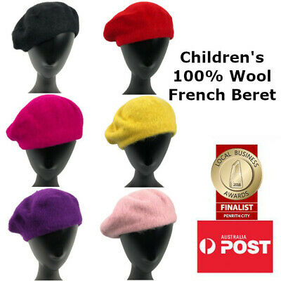 100% Wool Classic Children's French Beret
