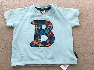 Ted Baker Baby Blue Boys B T Shirt , 3-6 Months , Good Condition