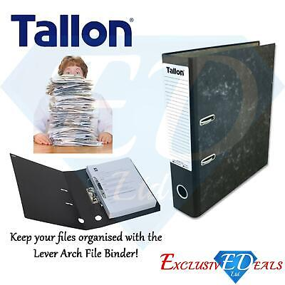 Black A4 Large Lever Arch Files Folders Metal Document Storage - 1, 3, 5 or 10