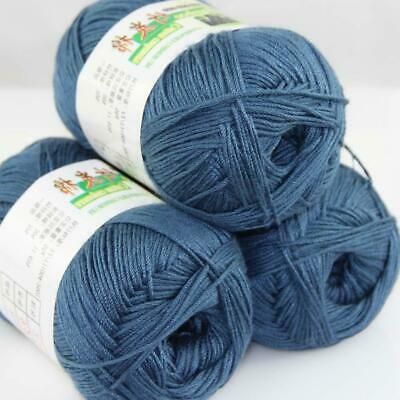 AIP Sale 3Skeins x50g Soft Bamboo Cotton Baby Wrap Hand Knitting Crochet Yarn 25