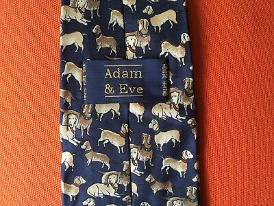 Mens Tie Adam § Eve, 100% Pure Silk, Italian Desing
