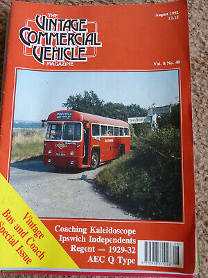 Vintage Commercial Vehicle magazine Vol 8 No 40 August 1992
