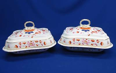 Pair Early Derby (Ca 1790 - 1800) Covered Tureens