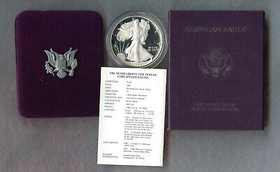 1986 S ~ American Silver Eagle Dollar ~ Proof ~ Box & Coa