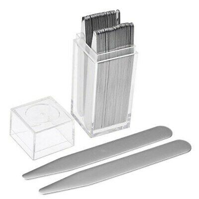 36pcs Stainless Steel Metal Collar Stays Stiffeners For Mens Shirt Dress - BOXED