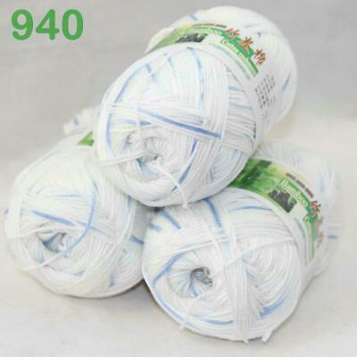 AIP Sale 3Skeins x50g Soft Bamboo Cotton Baby Wrap Hand Knitting Crochet Yarn 40