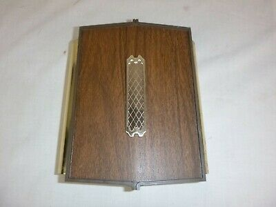Vtg Sears Doorbell Chime Woodgrain W/ Gold Accent Front & Back Chime *Working*