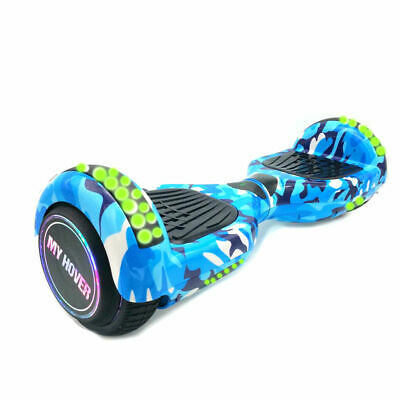 Hoverboard 6.5 Pollici Smart Balance Overboard Pedana Scooter 2019 Blu Camo