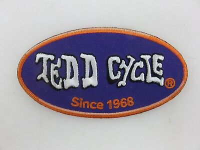 "Tedd Cycle Motorcycle Patch 4"" x 2""  Embroidered UNUSED"